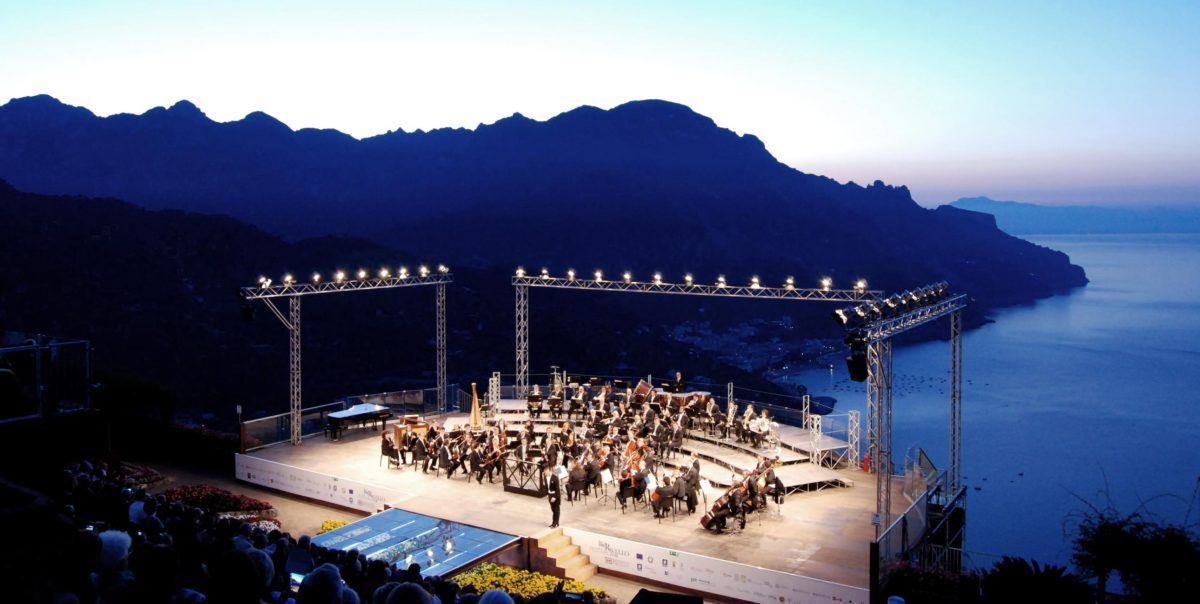 Music festival in Ravello at villa Cimbrone
