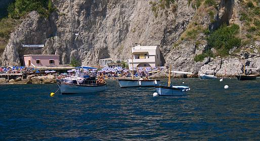 boat ride from Positano